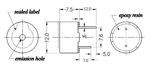 电磁式蜂鸣器(自激式)