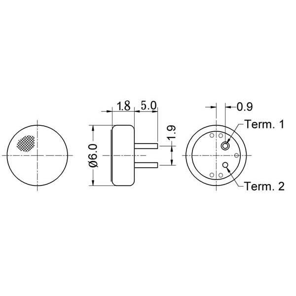 electret condenser microphone  lf-m6018-o series