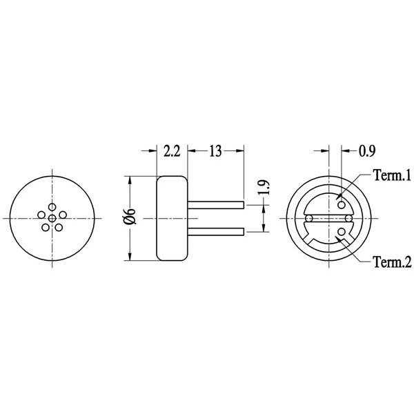 electret condenser microphone  lf-m6022-n series