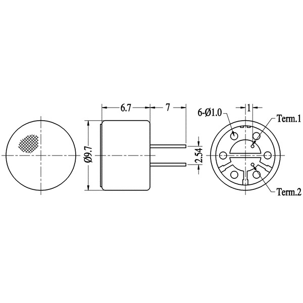 electret condenser microphone  lf-m9767-n series