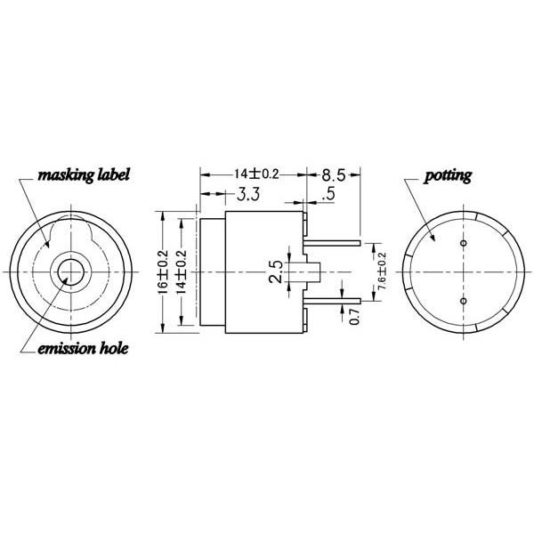 电磁式蜂鸣器(外部驱动)