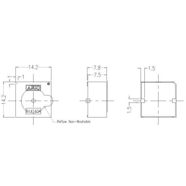压电式蜂鸣器(内建驱动线路)