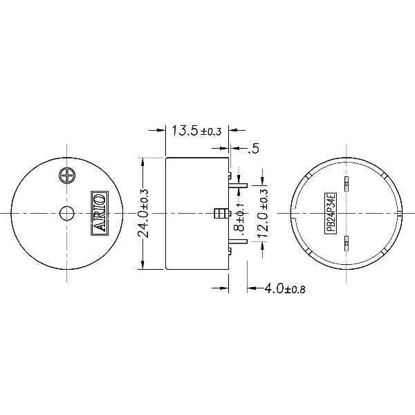 piezoelectric buzzer for driver circuit built-in  lf-pb24p34e