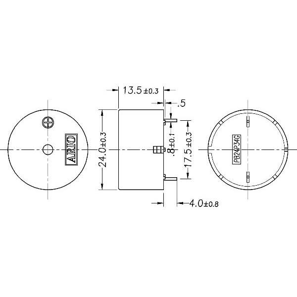 piezoelectric buzzer for driver circuit built-in  lf-pb24p34g