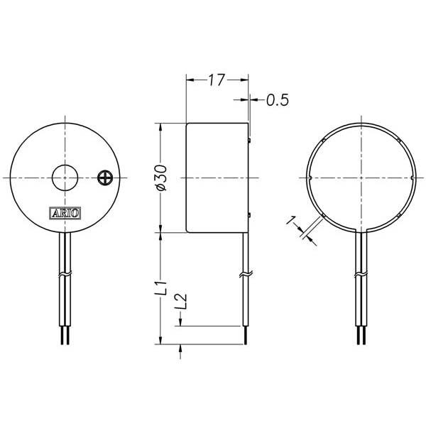 piezoelectric buzzer for driver circuit built