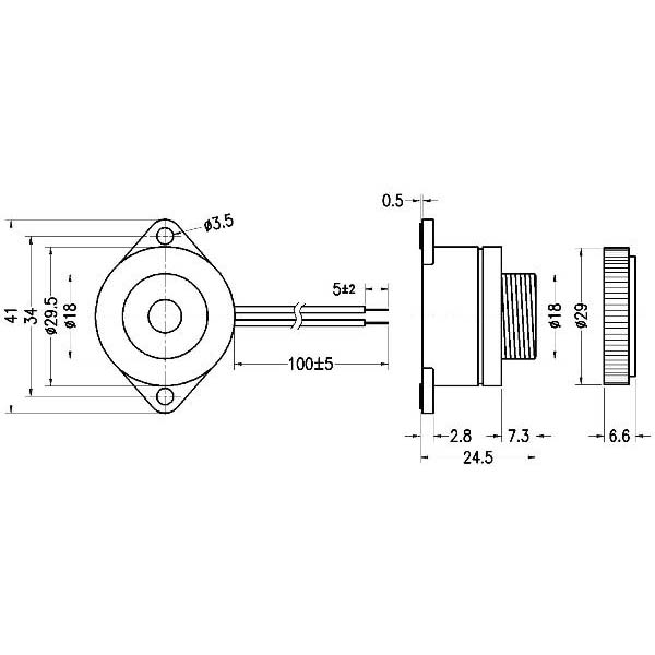 piezoelectric buzzer for driver circuit built-in  lf-pb30w32a-12