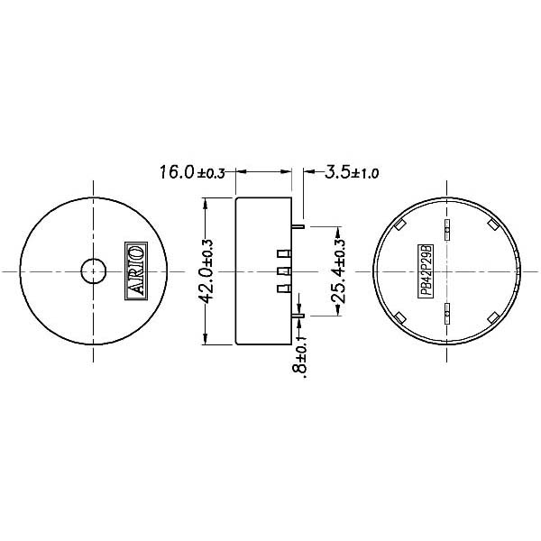 piezoelectric buzzer for driver circuit built-in  lf-pb42p29b