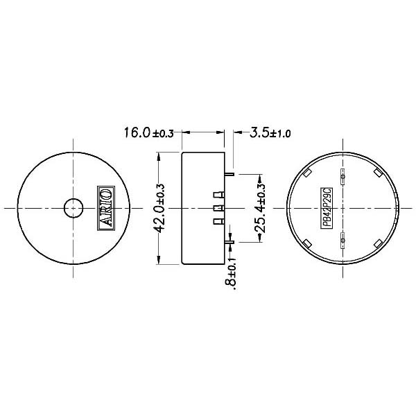 piezoelectric buzzer for driver circuit built-in  lf-pb42p29c