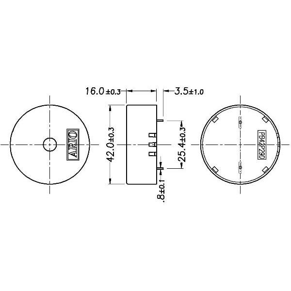 piezoelectric buzzer for driver circuit built-in  lf-pb42p29d