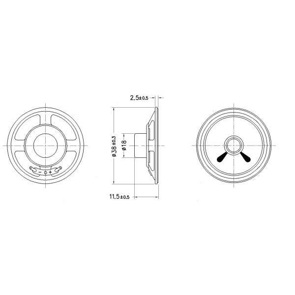 micro speaker  lf-k38b12a