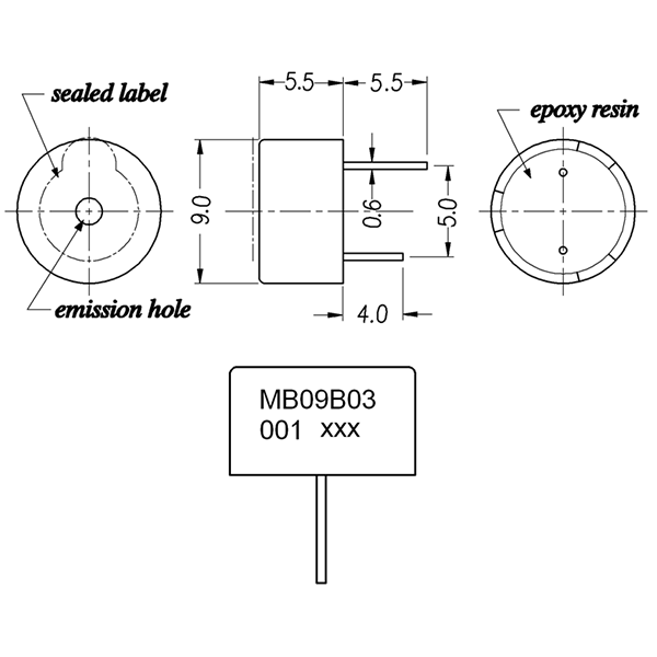 LF-MB09B03-001 Magnetic Buzzer Series
